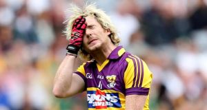 Wexford's Ben Brosnan  after missing a free at Croke Park. Photograph: James Crombie/Inpho