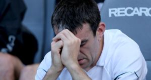 A dejected John Doyle of Kildare late in the Leinster semi-final. Photograph: James Crombie/Inpho