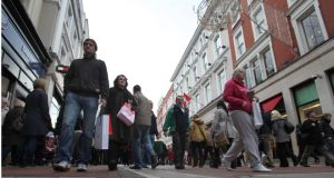 Councillors to vote over proposals for charity shops on Grafton Street. Photograph: Brenda Fitzsimons
