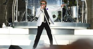 Rod Stewart performing at the RDS on Saturday. Photograph: Alan Betson / THE IRISH TIMES