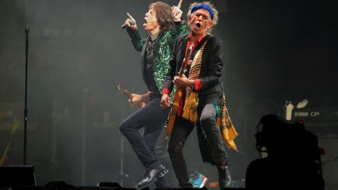 Mick Jagger (left) and Keith Richards (right) from the Rolling Stones. Photograph: Anthony Devlin/PA Wire
