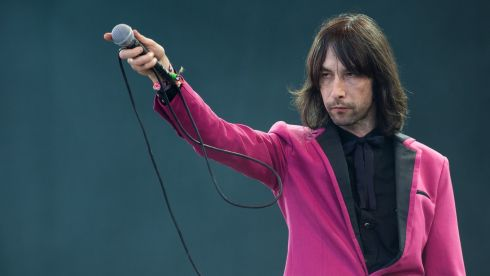 Bobby Gillespie of Primal Scream performs on the Pyramid Stage. Photograph: Ian Gavan/Getty Images