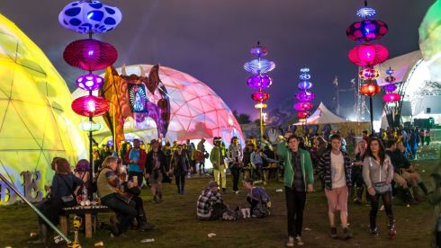 A general view during day 2 of the 2013 Glastonbury Festival at Worthy Farm. Photograph: Ian Gavan/Getty Images