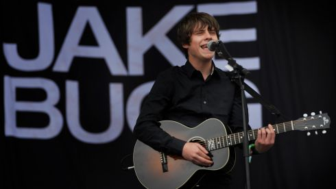 Jake Bugg performs during the first performance day. Photograph: Anthony Devlin/PA Wire