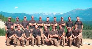 The Granite Mountain Interagency Hotshot Crew. The elite team of 19 firemen were killed yesterday in one of deadliest US firefighting disasters in decades as flames raced through dry brush and grass in central Arizona, destroying scores of homes and forcing the evacuation of two towns. Photograph: City of Prescott/Reuters