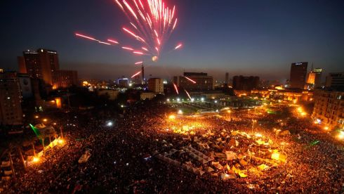Egyptians poured onto the streets on Sunday, swelling crowds that opposition leaders hope will number into the millions by evening and persuade Islamist president Mohamed Morsi to resign. Photograph: Mohamed Abd El Ghany/Reuters