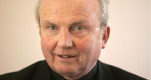 "Bishop Donal McKeown: claimed Mr Robinson had suggested that ""certain vested interests, by implication the Catholic Church, were the ones who were blocking movements towards that [integrated education]"". Photographer: Dara Mac Dónaill"