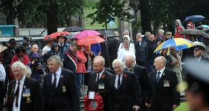 The anniversary of the Battle of the Somme at Belfast City Hall yesterday morning. Photograph: Colm Lenaghan/Pacemaker