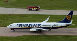 Ryanair closed up almost a point. Photograph: Paul Thomas/Bloomberg
