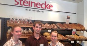 Three Steinecke trainees at work in the trainee-run Steinplatz branch in Berlin