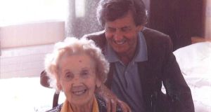 Filial devotion: Melvyn Bragg with his mother, Mary, who had Alzheimer's disease and died last year