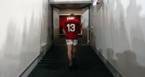 Brian O'Driscoll makes his way down the tunnel after the first test at the Suncorp Stadium. Photograph: David Davies/PA Wire