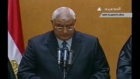 Mansour sworn in as head of interim government