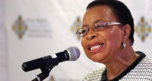 "Graca Machel, wife of former South African President Nelson Mandela,  yesterday spoke about her husband's condition for the first time, saying he was   ""sometimes uncomfortable"" but  ""fine"". Photograph: Reuters"