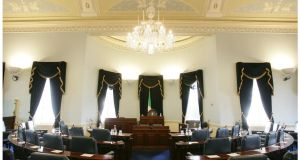 The Seanad Chamber at Leinster House. Senators are acutely aware that they could face an electoral rope in October's referendum to abolish the Upper House.   Photograph: Alan Betson