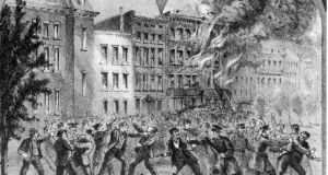 Fire and ire: illustration depicting street fighting during the New York draft riots in 1863. Photograph: Fotosearch/Getty Images