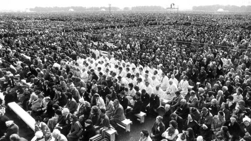 Pope John Paul II delivered Mass to a crowd of some 1.25 million people at Dublin's Phoenix Park in September 1979.