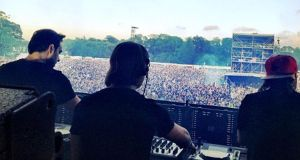 Swedish House Mafia performing at the Phoenix Park last year.
