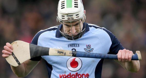 A dejected Peter Kelly of Dublin after his sidee's NHL semi-final defeat to Tipperary  this year. Photograph: Cathal Noonan/Inpho