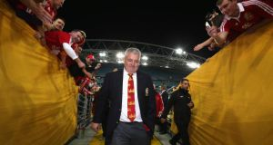 Lions head coach  Warren Gatland  walks down the tunnel after his team's victory over Australia in the third Test at    ANZ Stadium  in Sydney, Australia. Photograph: David Rogers/Getty Images