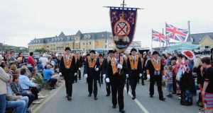 Orange Order   parade in Rossnowlagh, Co  Donegal on Saturday. Photograph: Trevor McBride