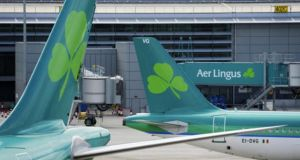 "Aer Lingus shares experienced ""very light"" volumes, closing up 1 per cent at €1.61."