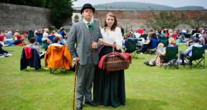 Jackson Pentland and Grace Scott from Chapterhouse Theatre Company, at Powercourt,  Co Wicklow. Photograph: Aidan Crawley