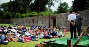 At an outdoor performance of Sherlock Holmes and The Hound of The Baskervilles in Powercourt Gardens, Co Wicklow. Photograph: Aidan Crawley