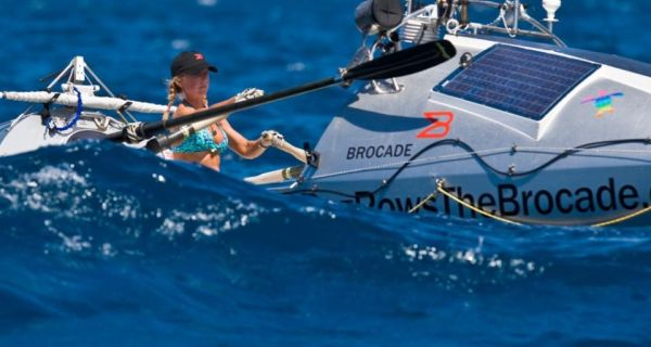 Roz Savage rowing across the Pacific from San Francisco to Honolulu