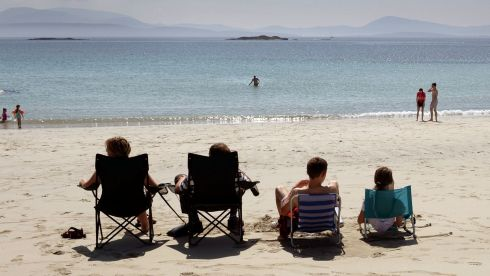 Making the most of the beautiful weather at O'Carrolls Cove, near Waterville, Co Kerry.  Photograph: Frank Miller/The Irish Times