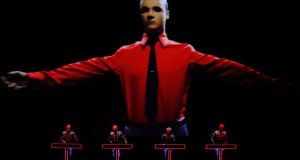 Kraftwerk's appearance at Marlay Park sees the unit bring their famed 3D stage show to Ireland for the first time. Photograph: Luke MacGregor