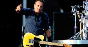 Springsteen and the men and women of The E Street Band will be playing shows in Limerick, Cork, Belfast and Kilkenny, where they'll end their current European tour with a two-night run in Nowlan Park. Photograph: Matt Kent/Getty Images