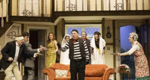 Noises Off Noises Off is a play about the theatre, a farce about farce. Photographer: Johan Persson