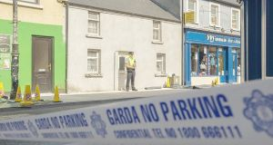 The scene of double killing of two brothers at New Antrim Street, Castlebar, Co Mayo. Photograph: Keith Heneghan/Phocus.
