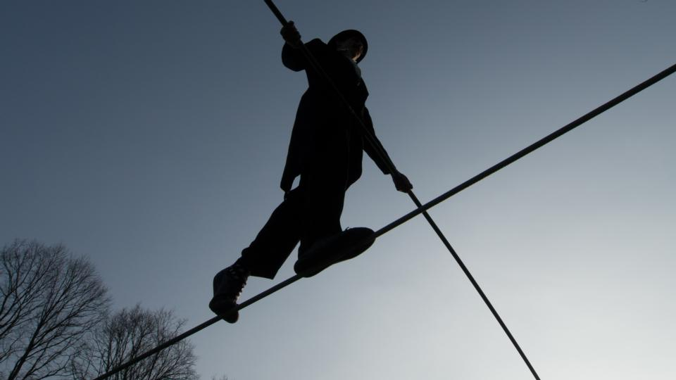 Man on wire: putting the fun into funambulism