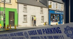 The scene of double killing of the two brothers Jack and Tom Blaine  at New Antrim Street, Castlebar, Co.Mayo. Photograph: Keith Heneghan / Phocus.