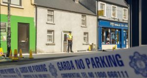 The scene of the double killing of two brothers at New Antrim Street, Castlebar, Co Mayo. Photograph : Keith Heneghan/Phocus.