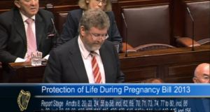 Minister for Health James Reilly speaks during the debate on the Protection of Life During Pregnancy Bill