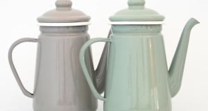 Enamel coffee pots from Mayfield Merchant