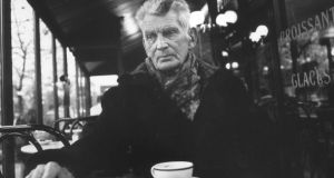 The definitive photograph of Beckett taken by John Minihan in Le Petit Café, PLM Hotel, Boulevard St Jacques, Paris, 1985 The definitive photograph of Beckett taken by John Minihan in Le Petit Café, PLM Hotel, Boulevard St Jacques, Paris, 1985