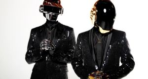 Thomas Bangalter, left, and Guy-Manuel de Homem-Christo, from the French music group, Daft Punk