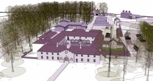 An artist's impression of the new distillery and visitor's centre.