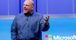 Microsoft chief executive Steve Ballmer, who announced a radical restructuring of the business.  Photograph: REUTERS/Robert Galbraith