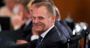 "Polish prime minister Donald Tusk: criticised those who want to reduce Europe to ""an exclusive club"". Photograph: Johannes Eisele/Reuters"