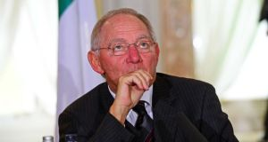 German finance minister Wolfgang Schäuble has said European Commission proposals for a new single banking resolution authority are very risky. Photo: Eric Luke/The Irish Times