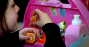 A file photo of  a child enjoying a packed lunch at a primary school in Cambridgeshire. Photograph: PA