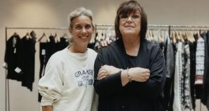 Above: Isabel Marant (left) and Margareta van den Bosch, creative driector of H&M