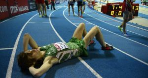 Ciarán Ó Lionáird is out on his feet after claiming bronze in Gothenburg. Photograph: Getty