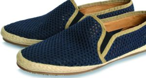 Navy perforated shoes by Hudson at Arnotts (€85)