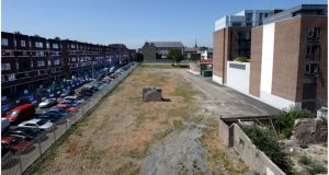 The Granby Park project site at Dominick Street, Dublin.   Photographs: Brenda Fitzsimons